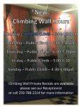 Public Climb @ Chetwynd & District Rec Centre