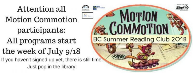 Attention all Motion Commotion participants_All programs start the week of July 918