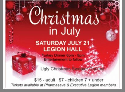 Christmas in July @ Legion Hall