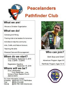 Peacelanders Pathfinder Club @ Mickey's Place