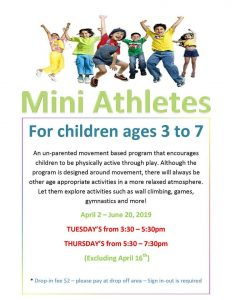 Mini Athletes @ Chetwynd & District Rec Centre