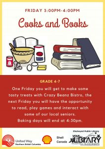 Cooks & Books @ Chetwynd Public Library