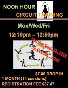 Noon Hour Circuit Training @ Chetwynd & District Rec Centre