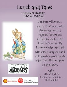 Lunch and Tales @ Chetwynd Public Library