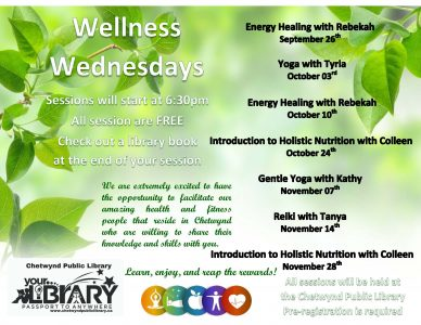 Wellness Wednesday @ Chetwynd Public Library