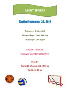 Adult Sports @ Chetwynd Secondary School Gym