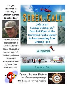 Siren Call Book Reading @ Chetwynd Public Library