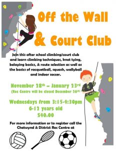 Off the Wall & Court Club @ Chetwynd & District Rec Centre