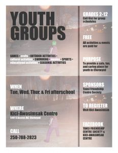 Youth Groups @ Kici-Awasimsak Centre