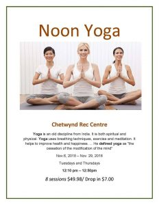 Noon Yoga @ Chetwynd & District Rec Centre
