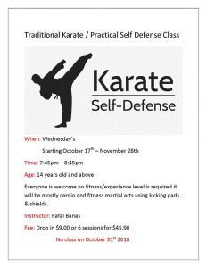 Karate- Self-Defense @ Chetwynd & District Rec Centre
