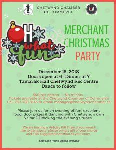 Merchant Christmas Party @ Chetwynd & District Rec Centre