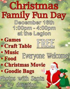 Christmas Family Fun Day @ Chetwynd Royal Canadian Legion