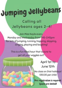 Jumping Jellybeans @ Chetwynd & District Rec Centre