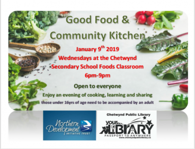 Good Food & Community Kitchen @ Chetwynd Secondary School Kitchen