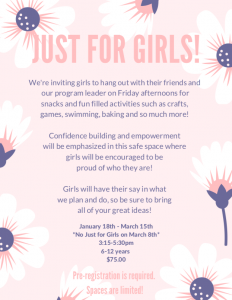 Just For Girls @ Chetwynd & District Rec Centre