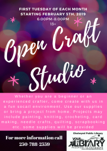 Open Craft Studio @ Chetwynd Public Library