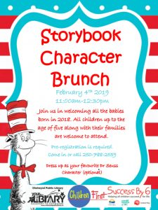Story Book Character Brunch @ Chetwynd Public Library