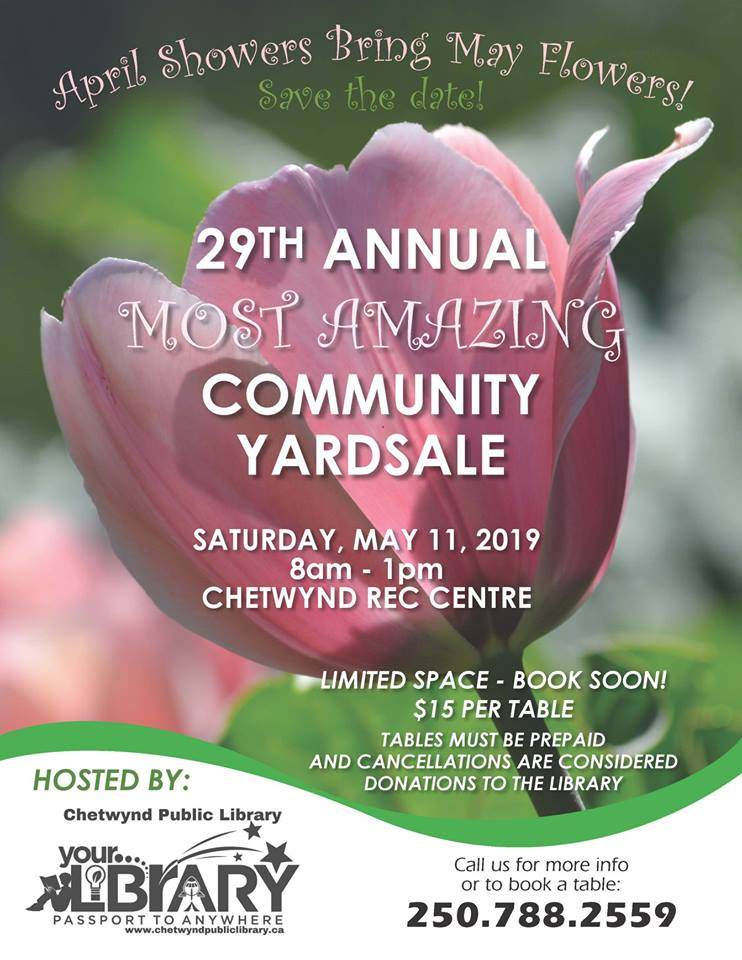 Most Amazing Community Yard Sale @ Chetwynd & District Rec Centre