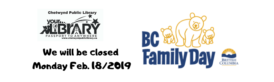 We will be closed Monday Feb. 18_2019
