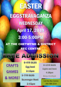 Easter Eggstravaganza @ Chetwynd & District Rec Centre