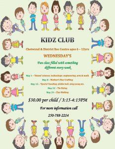 Kidz Club @ Chetwynd & District Rec Centre