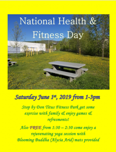 National Health & Fitness Day @ Chetwynd & District Rec Centre