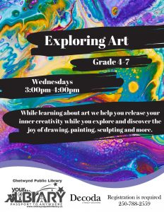 Exploring Art @ Chetwynd Public Library