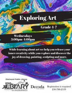 Exploring Art @ Chetwynd Public Library