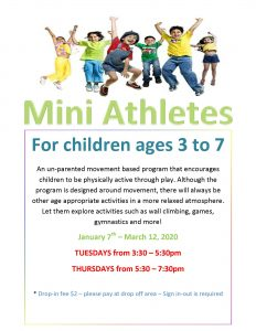Mini Athletes @ Chetwynd & District Rec Centre