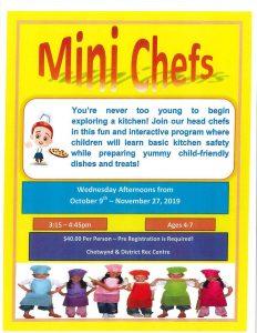 Mini Chefs @ Chetwynd & District Rec Centre