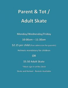 Parent and tot skating @ Chetwynd & District Rec Centre