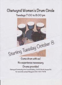 Women's Drum Circle @ Chetwynd Community Art Gallery