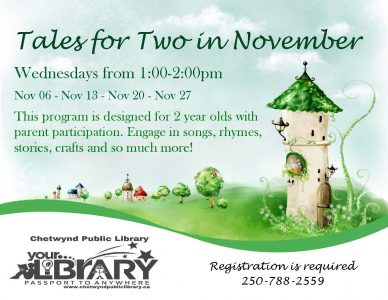 Tales for Two @ Chewtynd Public Library