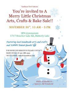 A Merry Little Christmas Arts, Crafts & Bake Sale @ SFN Gymnasium