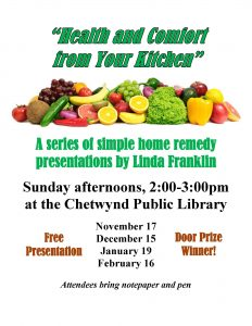 Health & Comfort from Your Kitchen @ Chetwynd Public Library