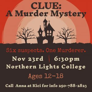 CLUE: A Murder Mystery @ Northern Lights College