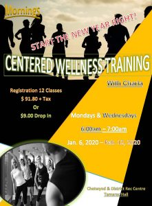 Morning Centered Wellness with Charla @ Chetwynd Rec Centre