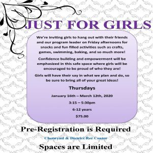 Just For Girls @ Chetwynd Rec Centre